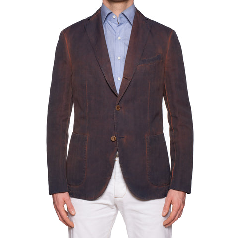 BOGLIOLI Galleria Herringbone Garment Dyed Cotton-Linen Jacket EU 50 NEW US 40