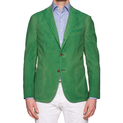 BOGLIOLI Galleria Green Garment Dyed Wool-Cotton-Mohair Unlined Jacket 50 NEW 40