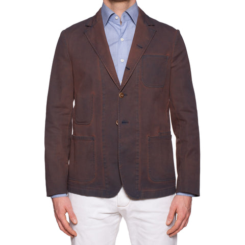 BOGLIOLI Galleria Garment Dyed Waxed Cotton 4 Button Jacket EU 50 NEW US 40