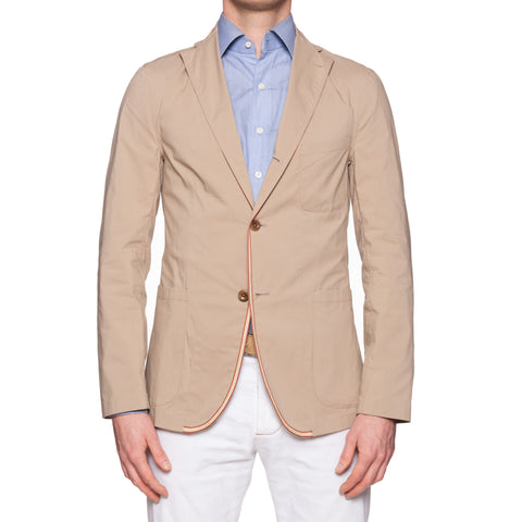 "BOGLIOLI Galleria ""72"" Beige Cotton Unconstructed Unlined Jacket EU 48 NEW US 38"