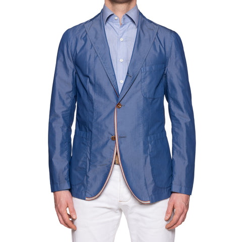 "BOGLIOLI Galleria ""72"" Blue Cotton Unconstructed Jacket EU 50 NEW US 40"