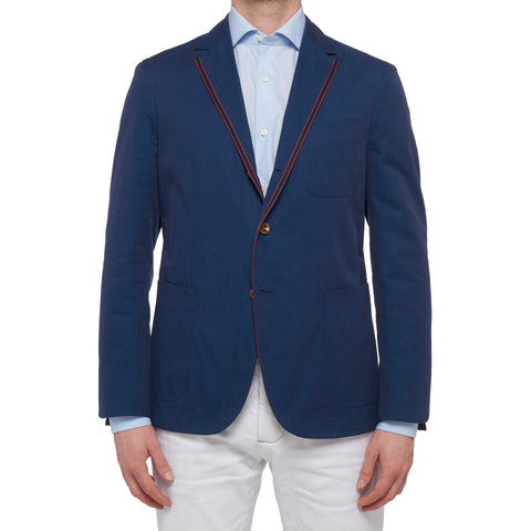 "BOGLIOLI Galleria ""73"" Blue Cotton Unlined Jacket Sport Coat EU 50 NEW US 40"