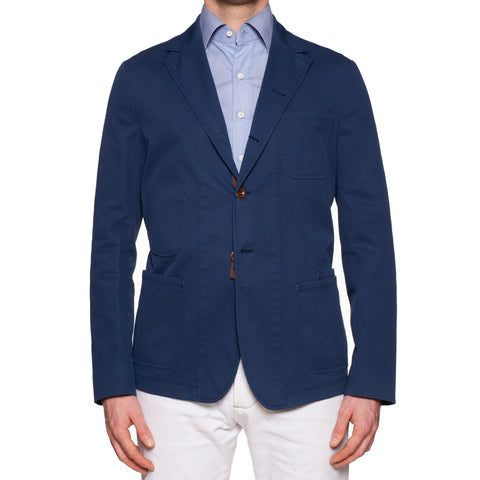 "BOGLIOLI Galleria ""74"" Blue Cotton 4 Button Jersey Jacket EU 50 NEW US 40"
