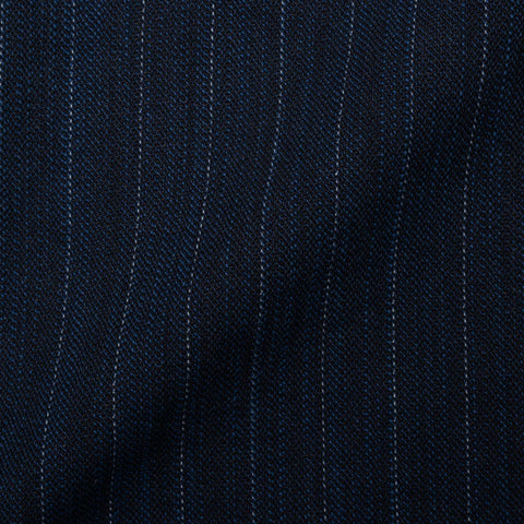 "BOGLIOLI Galleria ""74"" Blue Striped Cotton-Paper 4 Button Unlined Jacket 48 NEW 38"
