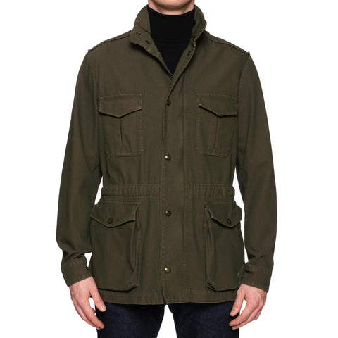 "BOGLIOLI Milano Khaki ""Garment Dyed"" Solaro Field Jacket Coat EU 48 NEW US S"