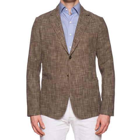 "BOGLIOLI Milano ""67"" Khaki Wool-Cotton 4 Button Unlined Jacket EU M NEW US 40"