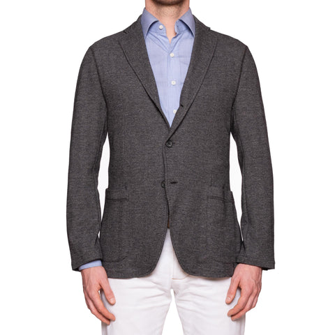 "BOGLIOLI Milano ""E-Line"" Gray Wool-Cotton Unlined Jacket M NEW 40"