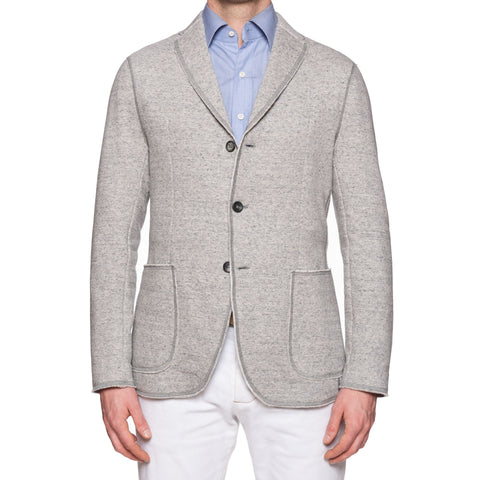 "BOGLIOLI Milano ""E-Line"" Heather Gray Cotton-Linen Unlined Jacket EU M NEW US 38"
