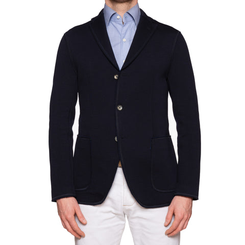 "BOGLIOLI Milano ""E-Line"" Navy Blue Wool-Silk-Cashmere Unlined Jacket M NEW 40"