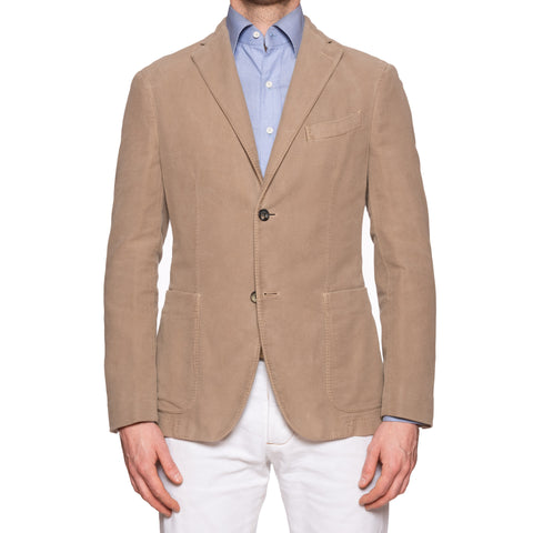 "BOGLIOLI Milano ""K. Jacket"" Beige Flannel Cotton Unlined Jacket EU 48 NEW US 38"