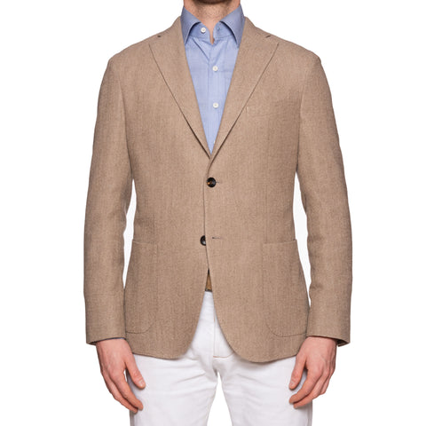 "BOGLIOLI Milano ""K. Jacket"" Beige Frisé Virgin Wool Unlined Jacket 48 NEW US 38"