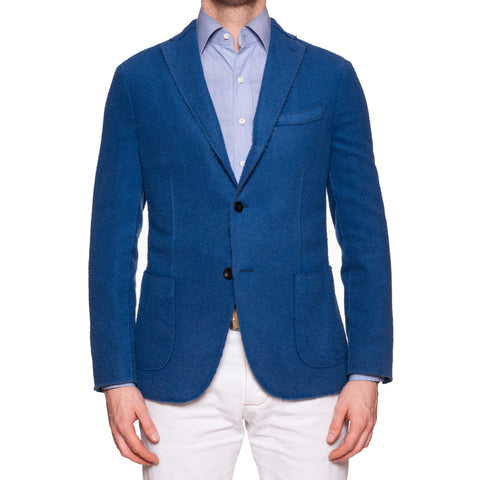 "BOGLIOLI Milano ""K. Jacket"" Blue Casentino Wool Unlined Jacket 48 NEW US 38"