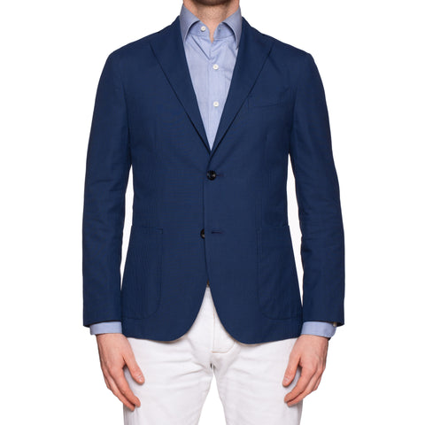 "BOGLIOLI Milano ""K. Jacket"" Blue Cotton Jacket Sport Coat EU 46 NEW US 36"