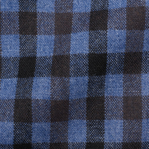 "BOGLIOLI Milano ""K. Jacket"" Blue Gingham Plaid Wool Jacket EU 50 NEW US 40"
