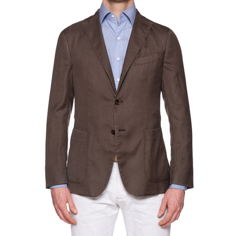 "BOGLIOLI Milano ""K.Jacket"" Brown Cashmere-Silk Unlined Blazer Soft Jacket NEW"