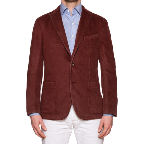 "BOGLIOLI ""K. Jacket"" Burgundy Pure Cashmere Unlined Jacket EU 50 NEW US 40"