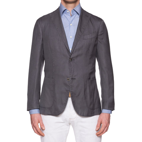 "BOGLIOLI Milano ""K.Jacket"" Gray Cashmere-Silk Unlined Blazer Soft Jacket NEW"