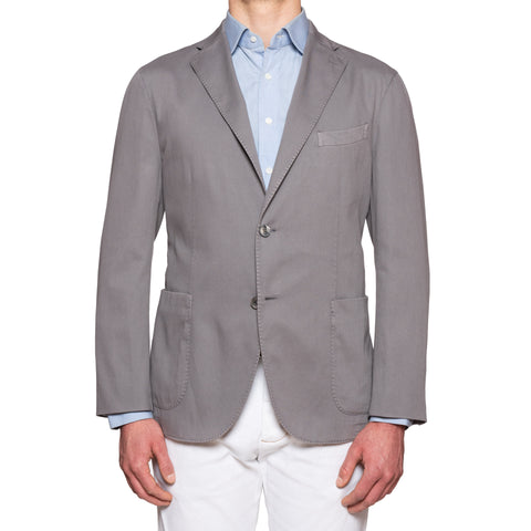 "BOGLIOLI Milano ""K. Jacket"" Gray Cotton Unlined Jacket Sport Coat NEW"
