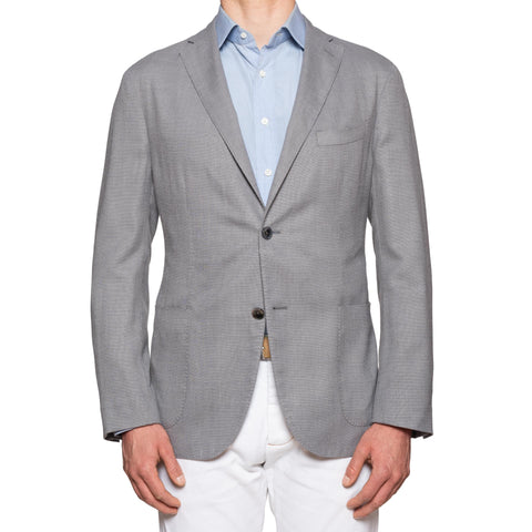 "BOGLIOLI Milano ""K. Jacket"" Gray Hopsack Wool Unlined Jacket EU 54 NEW US 44"