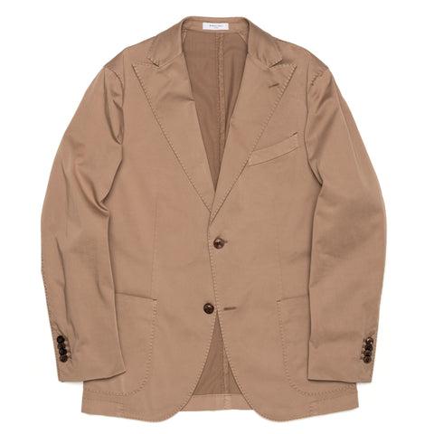 "BOGLIOLI Milano ""K. Jacket"" Khaki Cotton Unlined Peak lapel Jacket 46 NEW US 36"