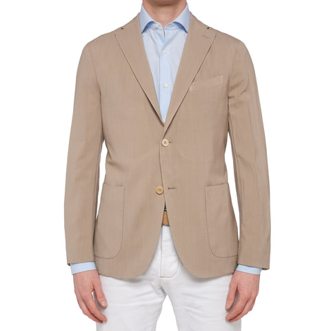"BOGLIOLI Milano ""K. Jacket"" Sand Beige Virgin Wool Unlined Jacket 48 NEW US 38"