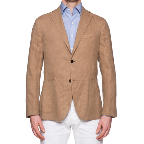 "BOGLIOLI Milano ""K. Jacket"" Tan Beige Hopsack Wool Unlined Jacket 54 NEW US 44"
