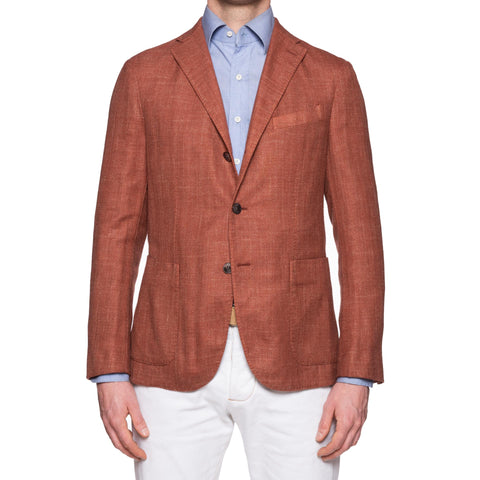"BOGLIOLI ""K. Jacket"" Herringbone Wool-Linen Unlined Jacket 48 NEW US 38"