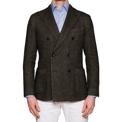 "BOGLIOLI ""K. Jacket"" Dark Green Wool-Silk-Linen-Cashmere DB Jacket 50 NEW US 40"