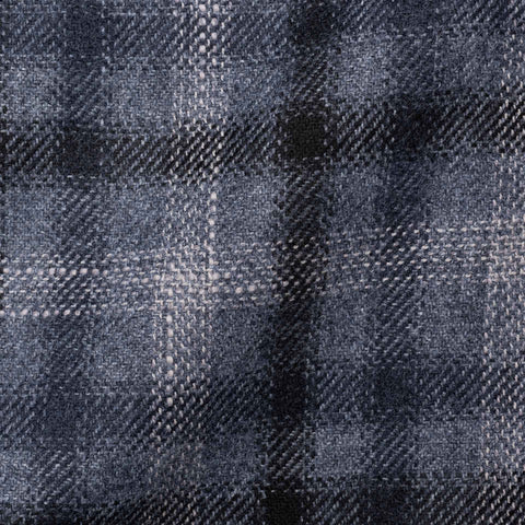 "BOGLIOLI ""K. Jacket"" Gray Plaid Wool Unlined Jacket with Elbow Patch EU 48 NEW US 38"