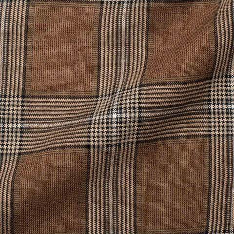"BOGLIOLI ""K. Jacket"" Khaki Plaid Wool-Silk-Linen Soft Jacket EU 48 NEW US 38"
