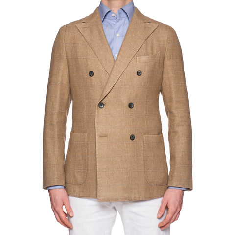 "BOGLIOLI ""K. Jacket"" Khaki Wool-Silk-Linen-Cashmere DB Jacket EU 50 NEW US 40"