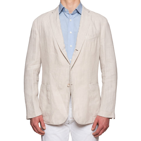 "BOGLIOLI ""K. Jacket"" Tan Linen Unlined Jacket EU 58 NEW US 48"