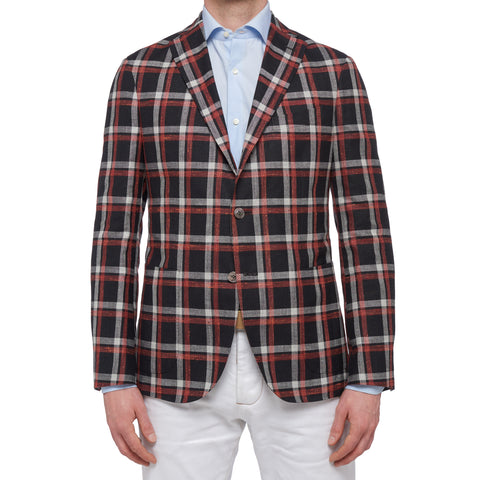 "BOGLIOLI ""K. Jacket"" Plaid Wool-Silk-Linen Unlined Jacket EU 50 NEW US 40"