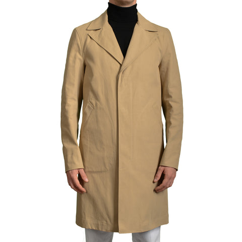 BOGLIOLI Milano Beige Twill Cotton Overcoat EU 50 NEW US 40 / M