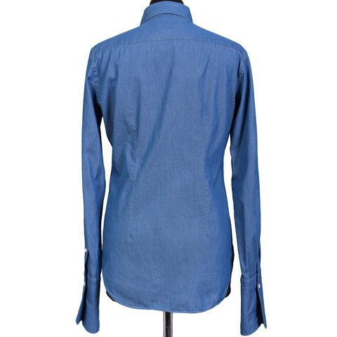 BOGLIOLI Milano Blue Denim Women Shirt Top IT 40 NEW US 4