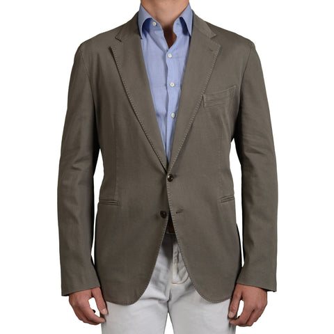 "BOGLIOLI Milano ""Bower"" Gray Cotton Unlined Blazer Jacket EU 60 NEW US 50"