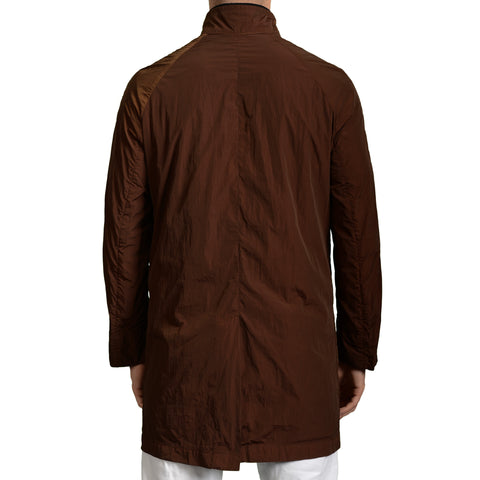 BOGLIOLI Milano Brown Polyester Unlined Rain Coat EU 48 NEW US 38 / S-M