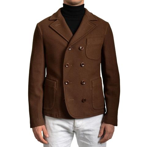 BOGLIOLI Milano Brown Wool Blend Unlined Pea Coat EU 50 NEW US 40 / M