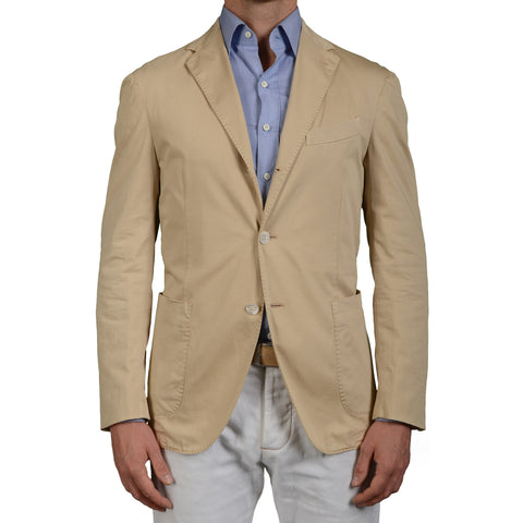 "BOGLIOLI Milano ""Coat"" Beige Cotton Unlined Blazer Jacket EU 50 NEW US 40"