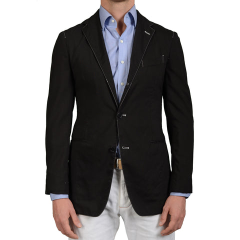"BOGLIOLI Milano ""Coat"" Black Mohair Unlined Summer Blazer Jacket EU 48 NEW US 38"
