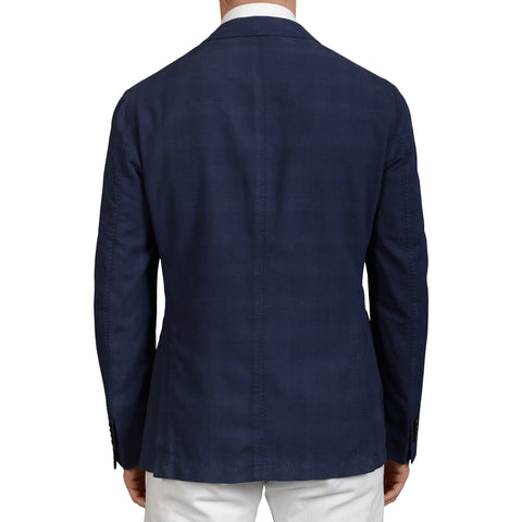 "BOGLIOLI Milano ""Coat"" Blue Cotton-Silk-Linen Unlined Blazer Jacket 50 NEW US 40"