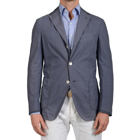 "BOGLIOLI Milano ""Coat"" Blue Cotton Unlined Summer Blazer Jacket EU 50 NEW US 40"