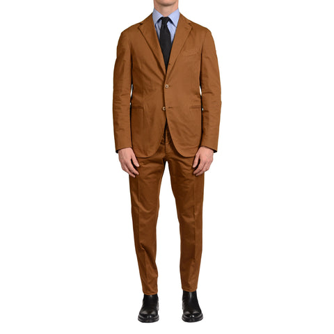 "BOGLIOLI Milano ""Coat"" Brown Cotton-Linen Unlined Suit EU 52 NEW US 42"
