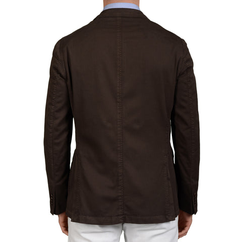 "BOGLIOLI Milano ""Coat"" Brown Cotton-Silk Unlined Blazer Jacket EU 52 NEW US 42"