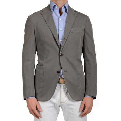 "BOGLIOLI Milano ""Coat"" Gray Unlined Cotton Blazer Jacket Sports Coat NEW"