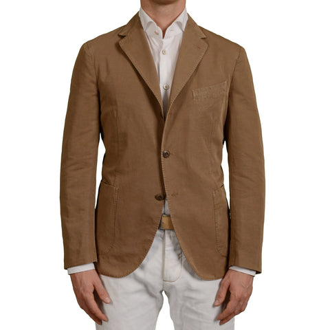 "BOGLIOLI Milano ""Coat"" Khaki Cotton-Linen Unlined Blazer Jacket EU 52 NEW US 42"