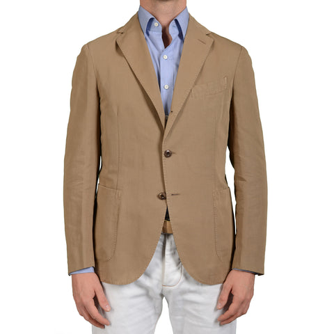 "BOGLIOLI Milano ""Coat"" Khaki Cotton-Linen Unlined Jacket Sports Coat 50 NEW 40"