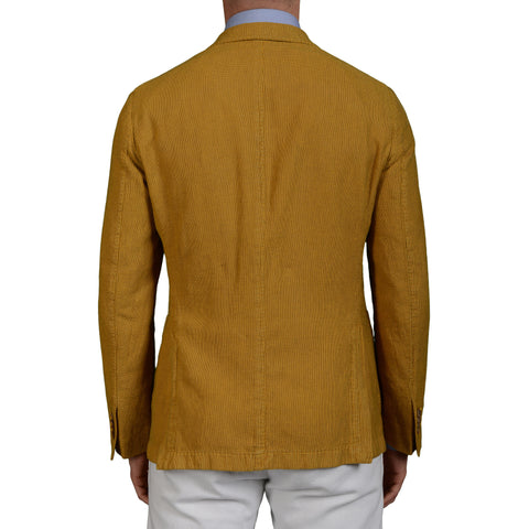 "BOGLIOLI Milano ""Coat"" Yellow Cotton-Linen Unlined Blazer Jacket Sports Coat NEW"