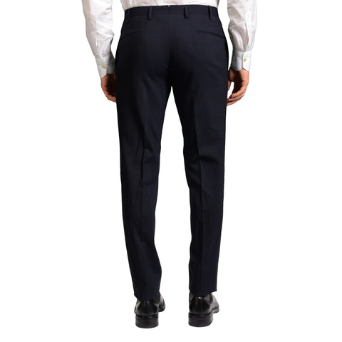 "BOGLIOLI Milano ""Dover"" Blue Wool Flat Front Slim Fit Pants EU 48 NEW US 32"