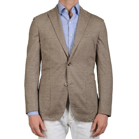 "BOGLIOLI Milano ""Dover"" Gray Cotton-Linen Unlined Blazer Jacket EU 50 NEW US 40"